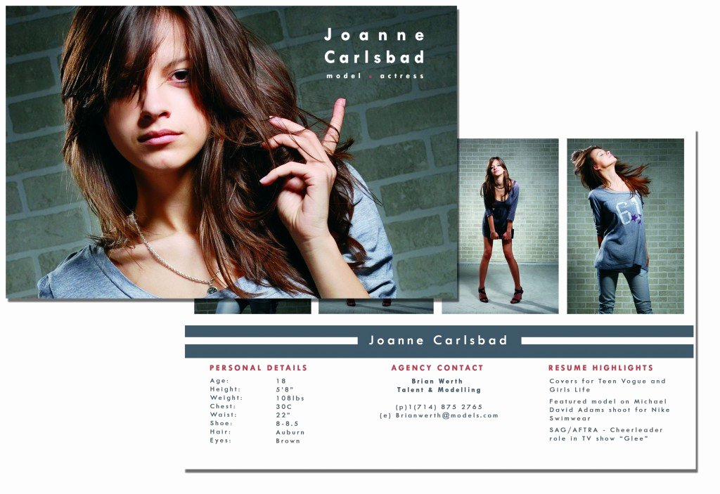 Model Comp Card Template Free Unique P Card Template