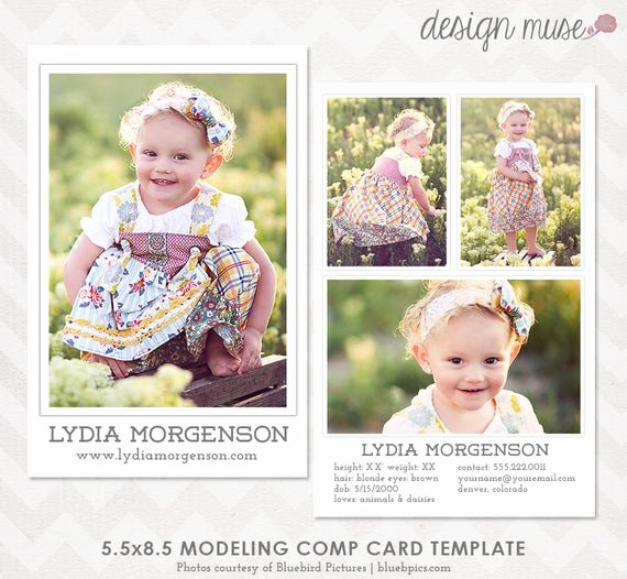 Model Comp Card Template Inspirational Model P Card Template for Professional Graphers