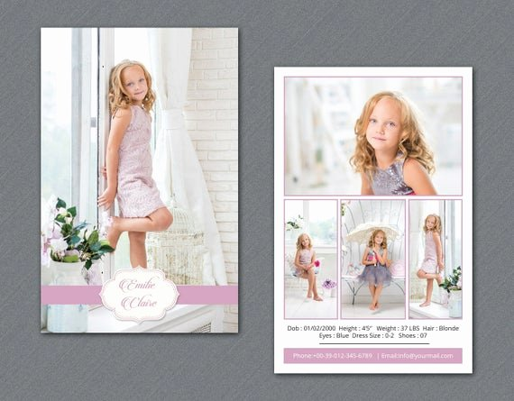 Model Comp Card Template Luxury Model P Card Template Modeling P Card Shop