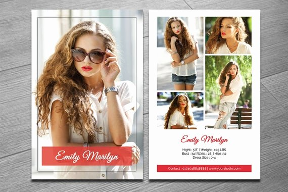 Model Comp Card Template Luxury Modeling P Card Template Fashion Model P Card Ms