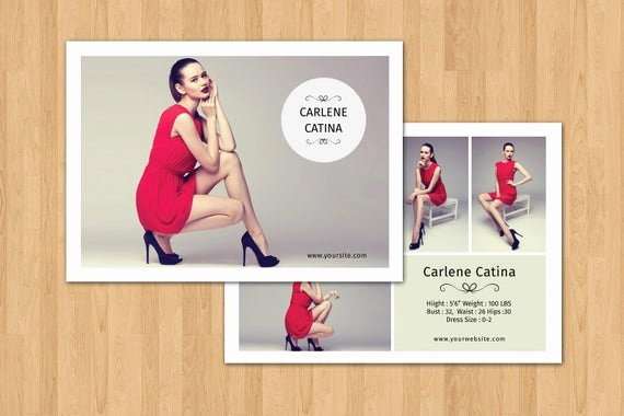 Model Comp Card Template New Fashion Model P Card Template Modeling P Card