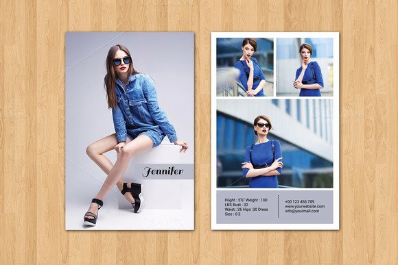 Model Comp Card Template New Template Modeling P Card Template V290 Designtube Creative Design Content