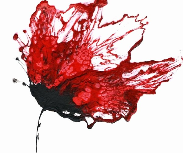 "Modern Abstract Flower Paintings Beautiful ""red Wall Art Flower Painting Abstract Floral Art"