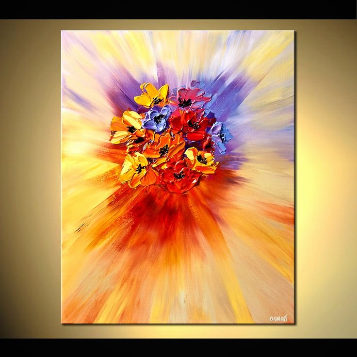 Modern Abstract Flower Paintings Best Of Best 20 Abstract Flower Paintings Ideas On Pinterest
