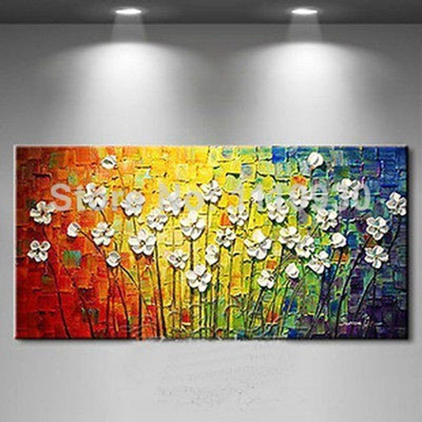 Modern Abstract Flower Paintings Elegant Free Shipping Handmade Modern Abstract Decorative Small