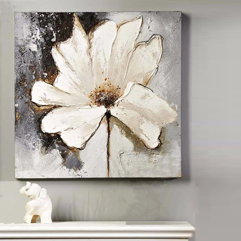 Modern Abstract Flower Paintings Fresh Handpainted Acrylic Floral Paintings Home Decoration Wall
