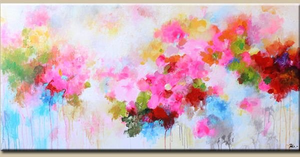 Modern Abstract Flower Paintings Lovely Abstract Painting original Painting Flower Painting