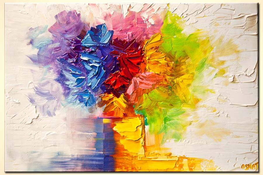 Modern Abstract Flower Paintings Lovely Painting for Sale Colorful Flowers In Vase Modern