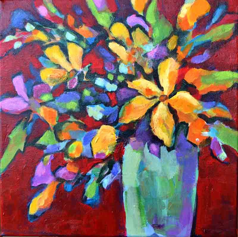 Modern Abstract Flower Paintings Luxury Filomena De andrade Booth Flores original Abstract