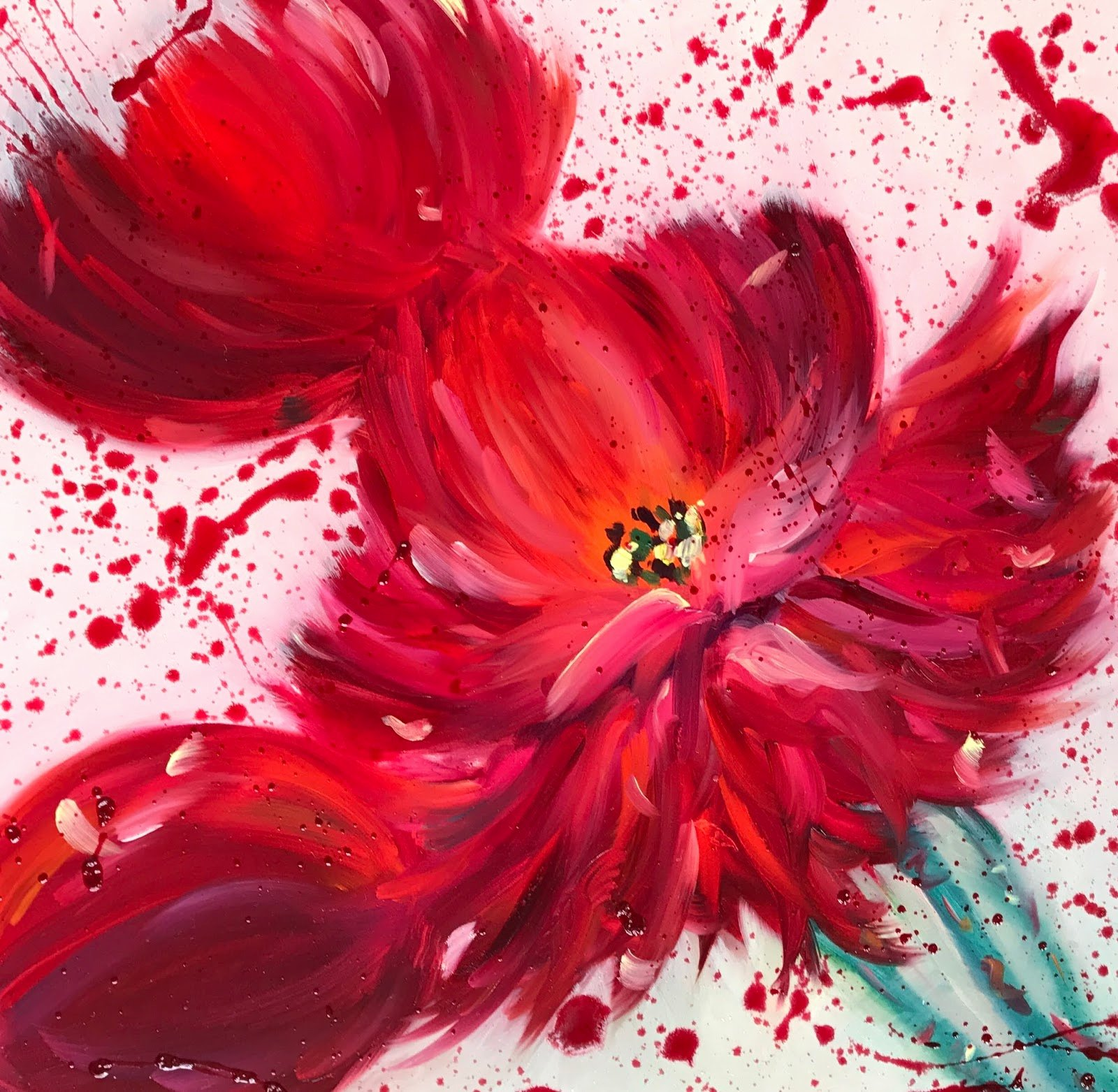 Modern Abstract Flower Paintings Luxury Kimberly Conrad Life Art Business