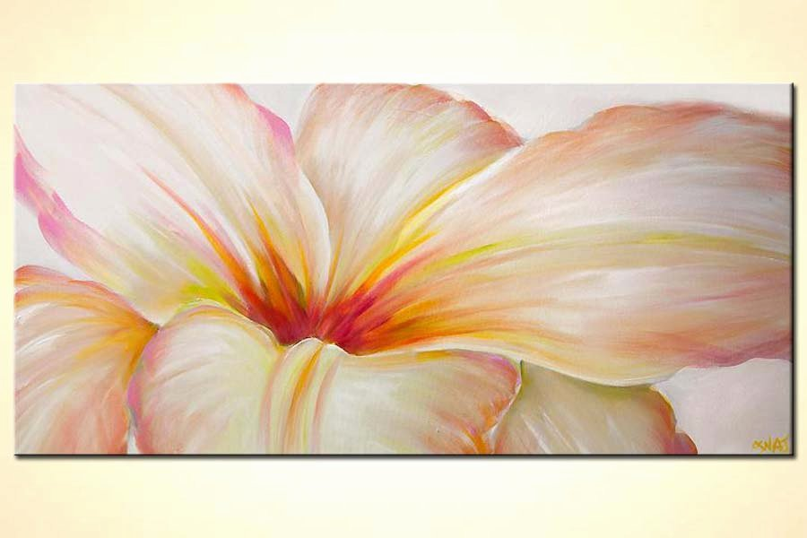 Modern Abstract Flower Paintings Unique Painting for Sale White Flower Modern Contemporary