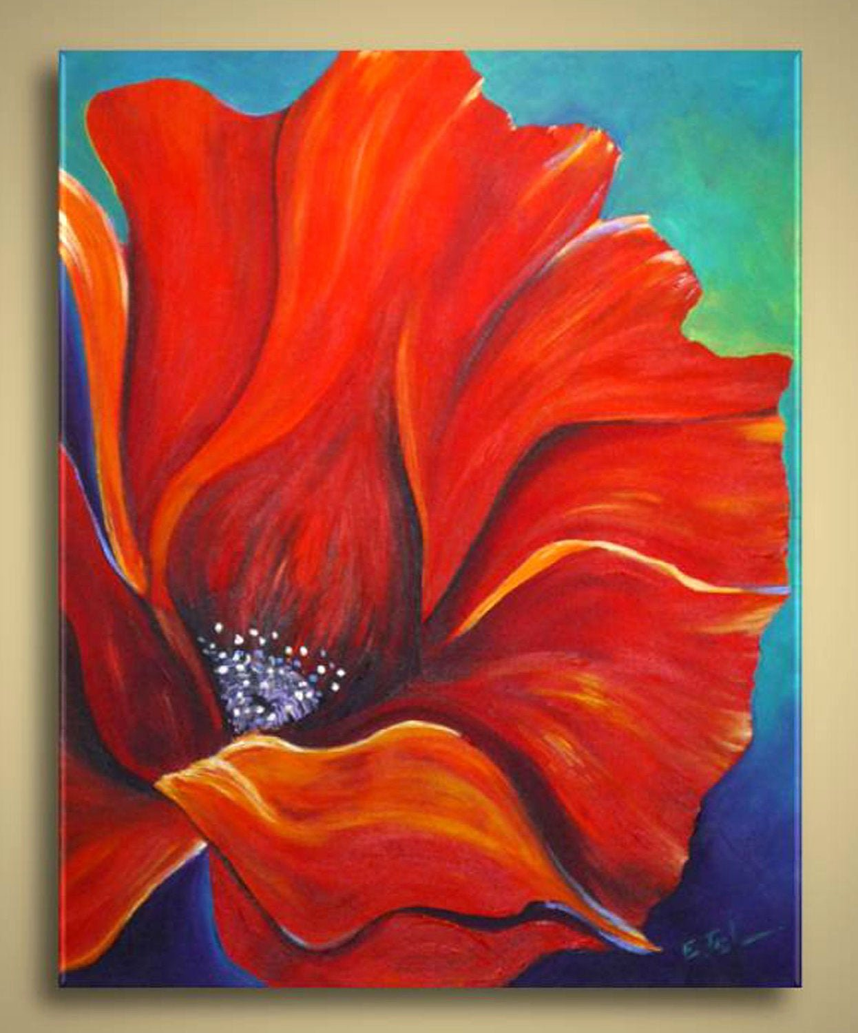 Modern Abstract Flower Paintings Unique Unavailable Listing On Etsy