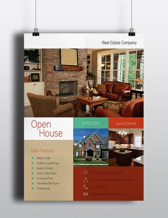 Modern Real Estate Flyers Awesome Items Similar to Modern Real Estate Flyer 8 5 X 11