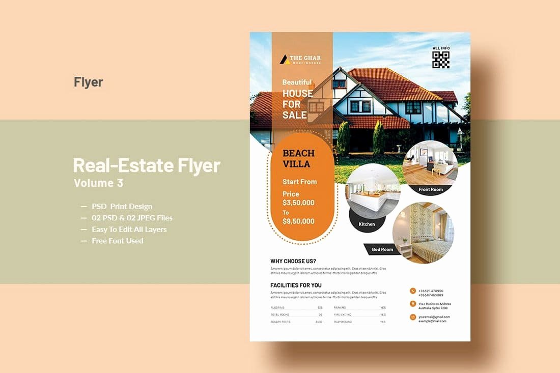 Modern Real Estate Flyers Beautiful 30 Best Real Estate Flyer Templates