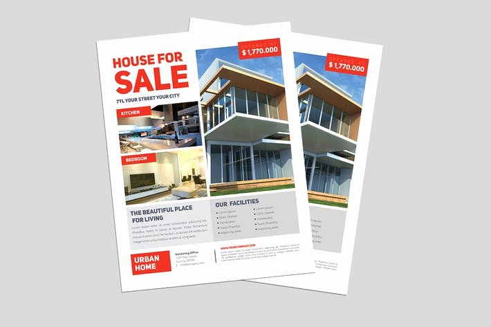 Modern Real Estate Flyers Beautiful Minimal Real Estate Flyer by Guuver On Envato Elements