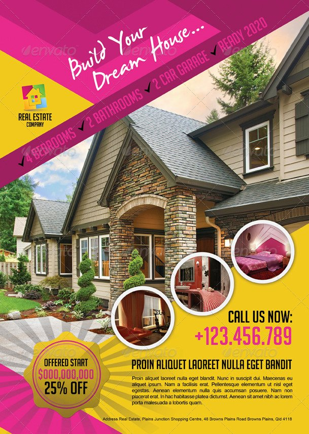 Modern Real Estate Flyers Beautiful Modern Real Estate Flyer by Inddesigner