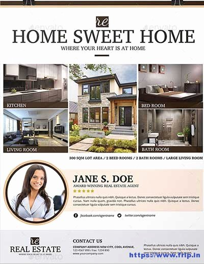 Modern Real Estate Flyers Elegant 50 Best Real Estate Flyer Print Templates 2017