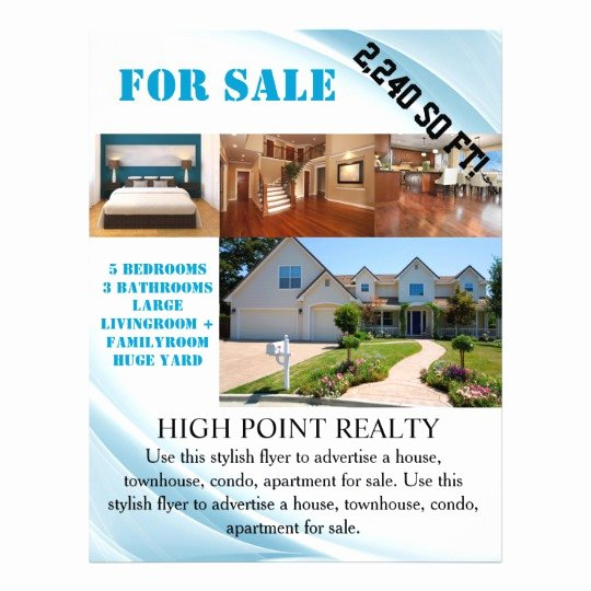 Modern Real Estate Flyers Elegant Modern Real Estate Realtor for Sale Flyer