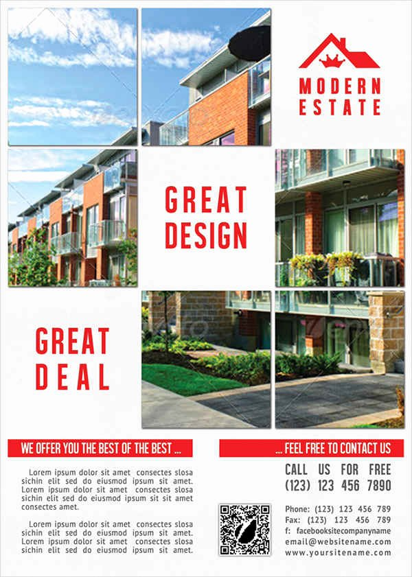Modern Real Estate Flyers Fresh 42 Free Flyers
