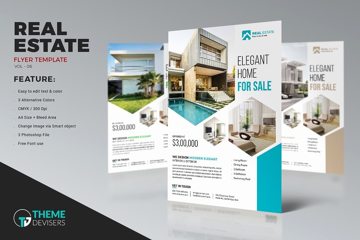 Modern Real Estate Flyers Inspirational 22 Real Estate Flyers Word Psd Ai Eps Vector formats