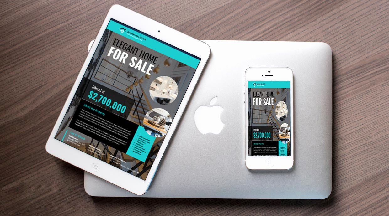 Modern Real Estate Flyers Lovely Teal & Black Modern Real Estate Flyer Idea Venngage Flyer Examples