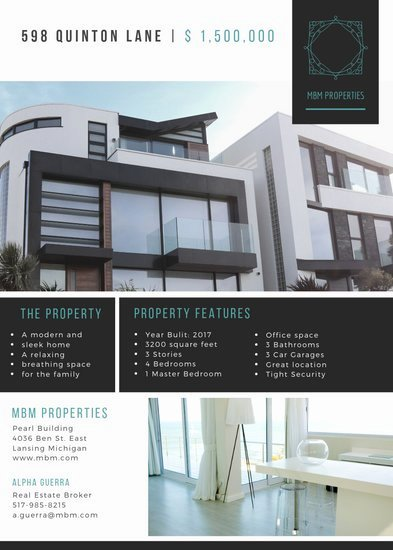 Modern Real Estate Flyers Luxury Customize 79 Real Estate Flyer Templates Online Canva