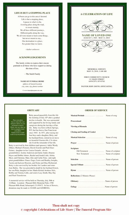 Monogram order form Template Awesome Ao Script Monogram Program Template Funeral Program