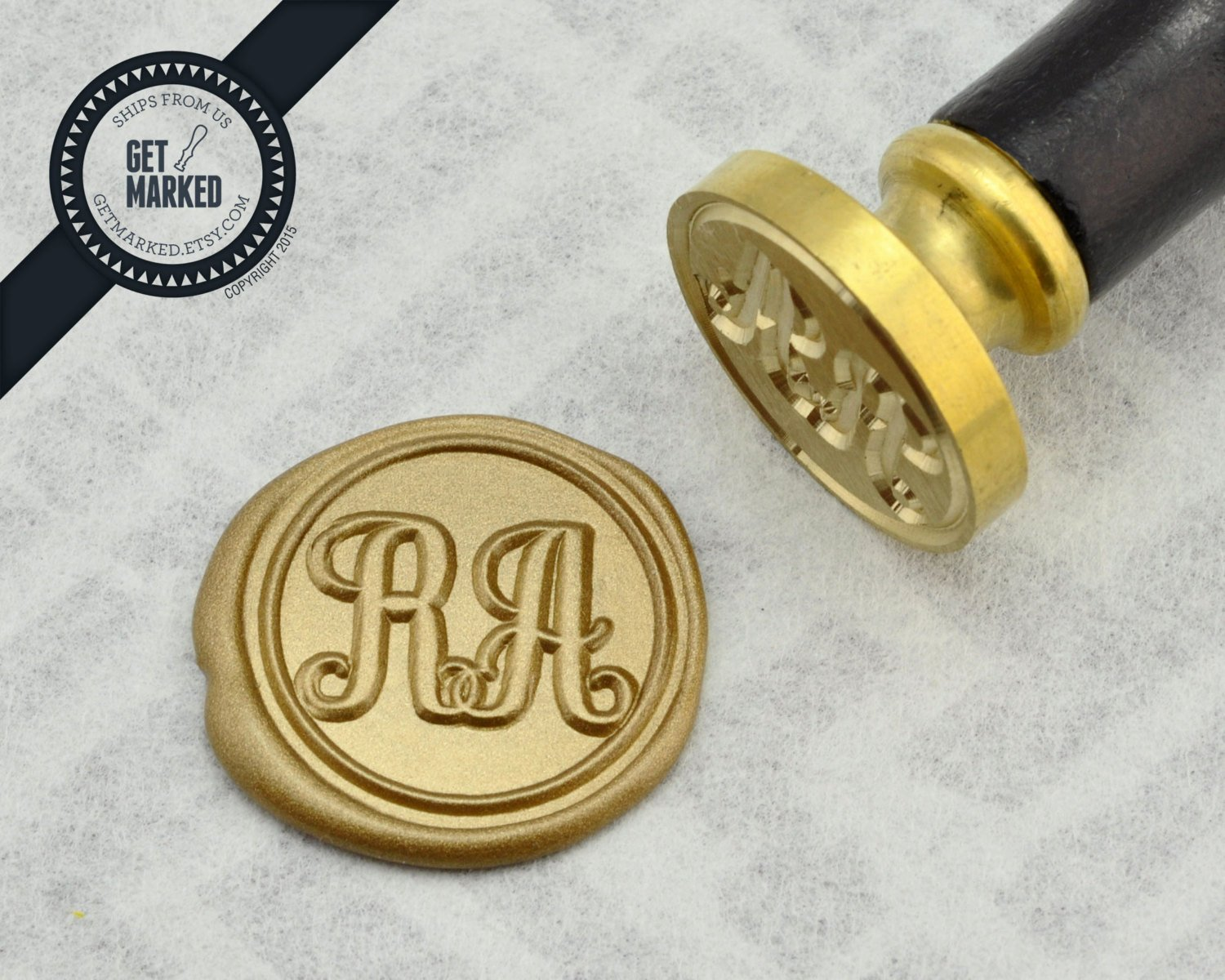 Monogram order form Template Awesome Monogram Customized Wax Seal Stamp Template by Get Marked