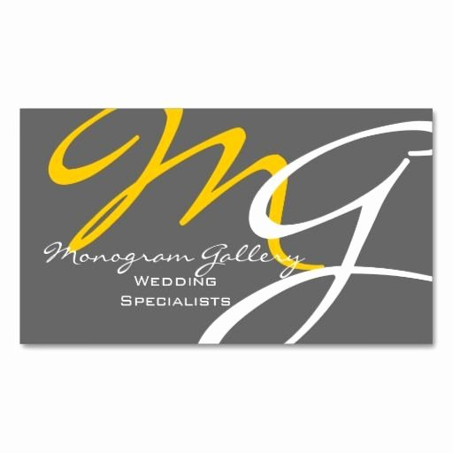 Monogram order form Template Best Of Yellow Grey Modern Monogram Business Card Template Zazzle