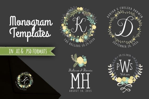 Monogram order form Template Lovely Monogram Templates Wedding Initials Decorative Monograms