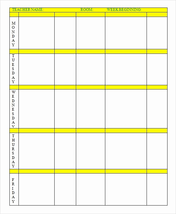 Monthly Lesson Plan Template Awesome Microsoft Excel Lesson Plans for High School Priorityprojects