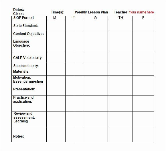 Monthly Lesson Plan Template Elegant Sample Weekly Lesson Plan 8 Documents In Pdf Word