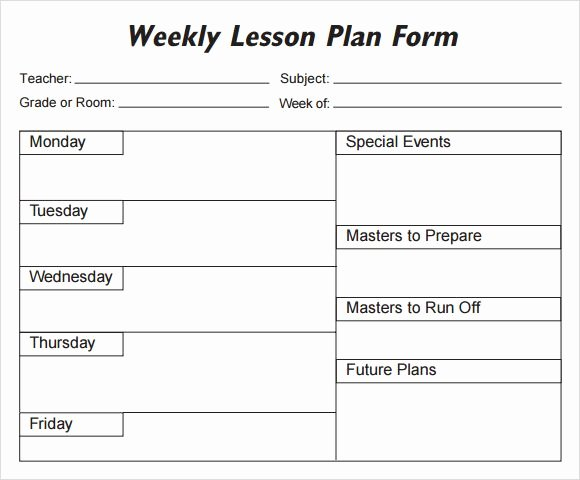 Monthly Lesson Plan Template Inspirational Lesson Plan Template 1 organization Pinterest