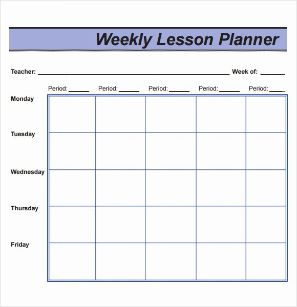 Monthly Lesson Plan Template Lovely Free 8 Sample Lesson Plans In Pdf