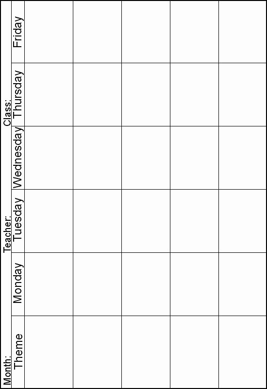 Monthly Lesson Plan Template New Weekly Lesson Planner Instead Of theme I Can Print One Out for Each Subject area Perfect for