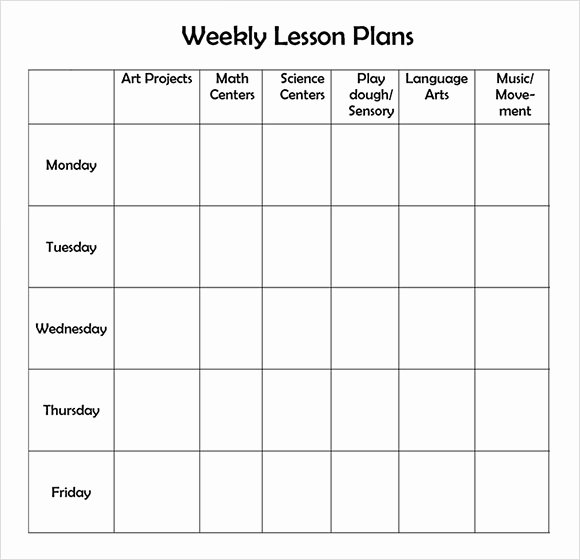 Monthly Lesson Plan Template Unique Free 7 Sample Weekly Lesson Plans In Google Docs Ms Word Pages