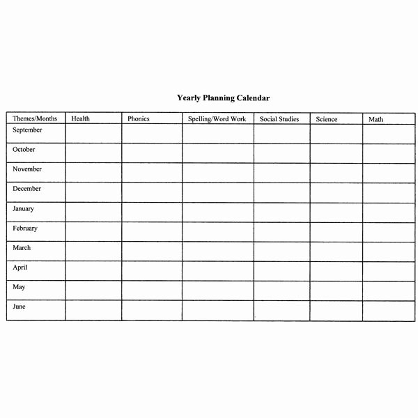 Monthly Lesson Plan Template Unique How to Create Monthly and Yearly Plans for the Classroom Includes A Monthly and Yearly Lesson