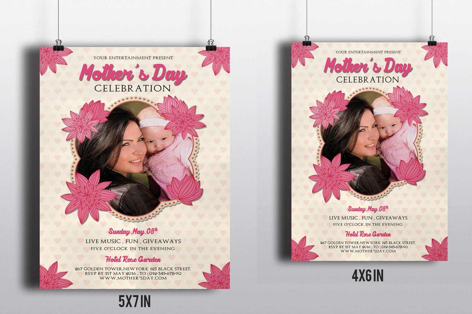 Mother Day Flyer Template Free Awesome Mother S Day Flyer Template V265 Flyer Templates Creative Market