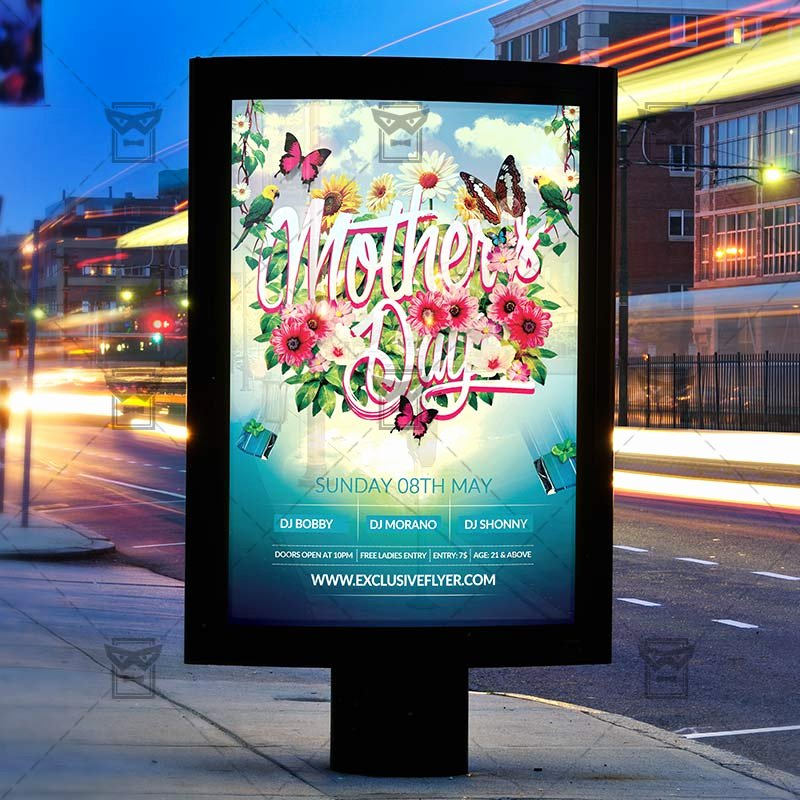 Mother Day Flyer Template Free Awesome Mother's Day – Premium Flyer Template Cover Exclsiveflyer