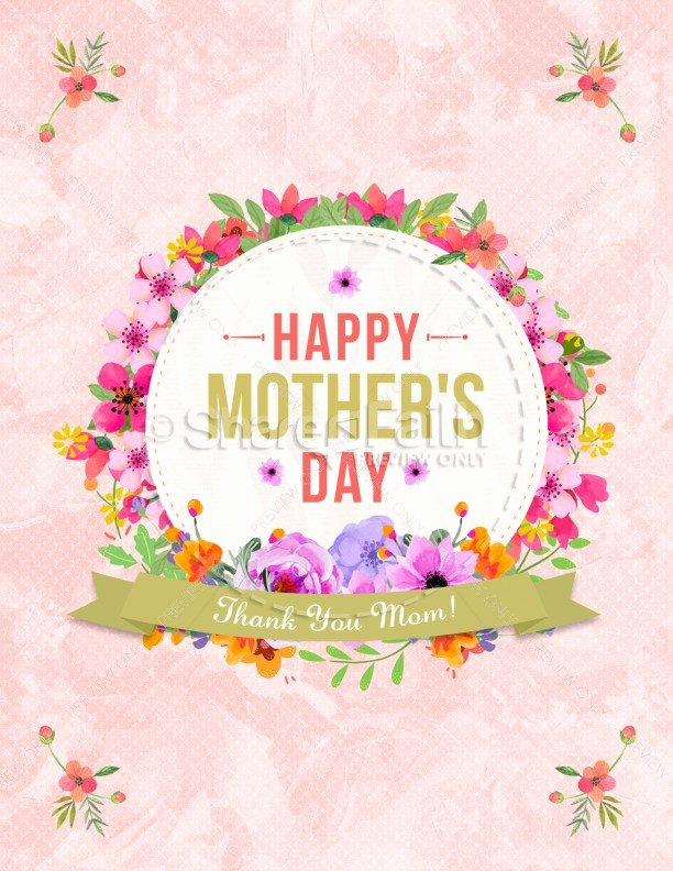 Mother Day Flyer Template Free Beautiful Happy Mother S Day Thank You Mom Flyer Template