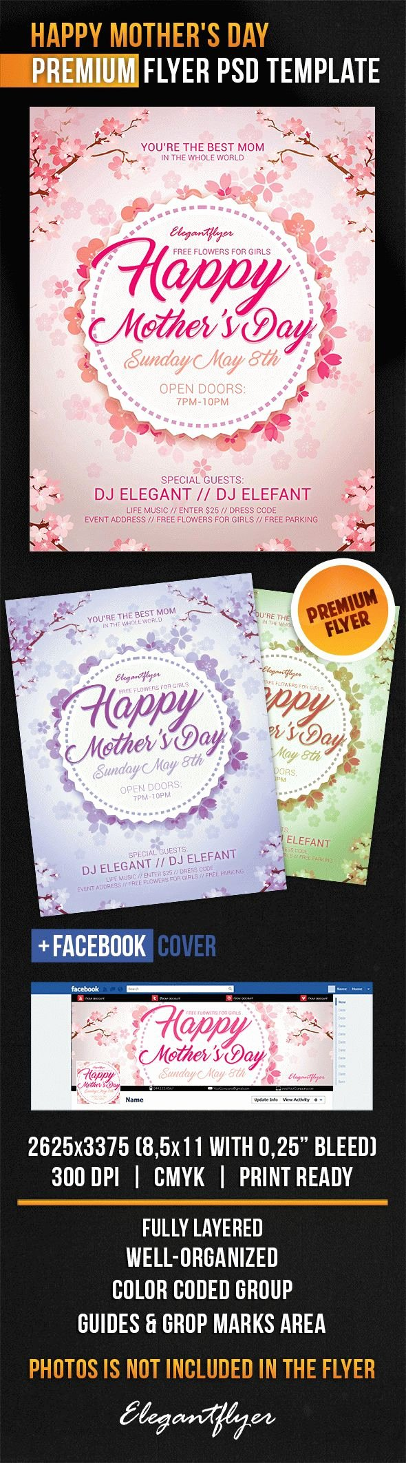 Mother Day Flyer Template Free Best Of Flyer for Mothers Day theme – by Elegantflyer