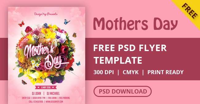 Mother Day Flyer Template Free Best Of Happy Mothers Day Flyer Psd Template Designyep