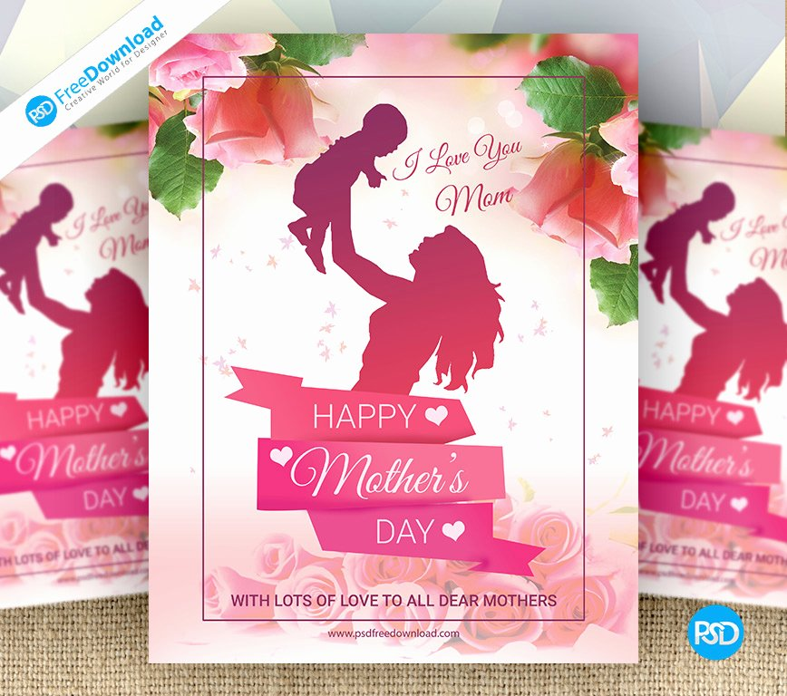 mother day special flyer psd