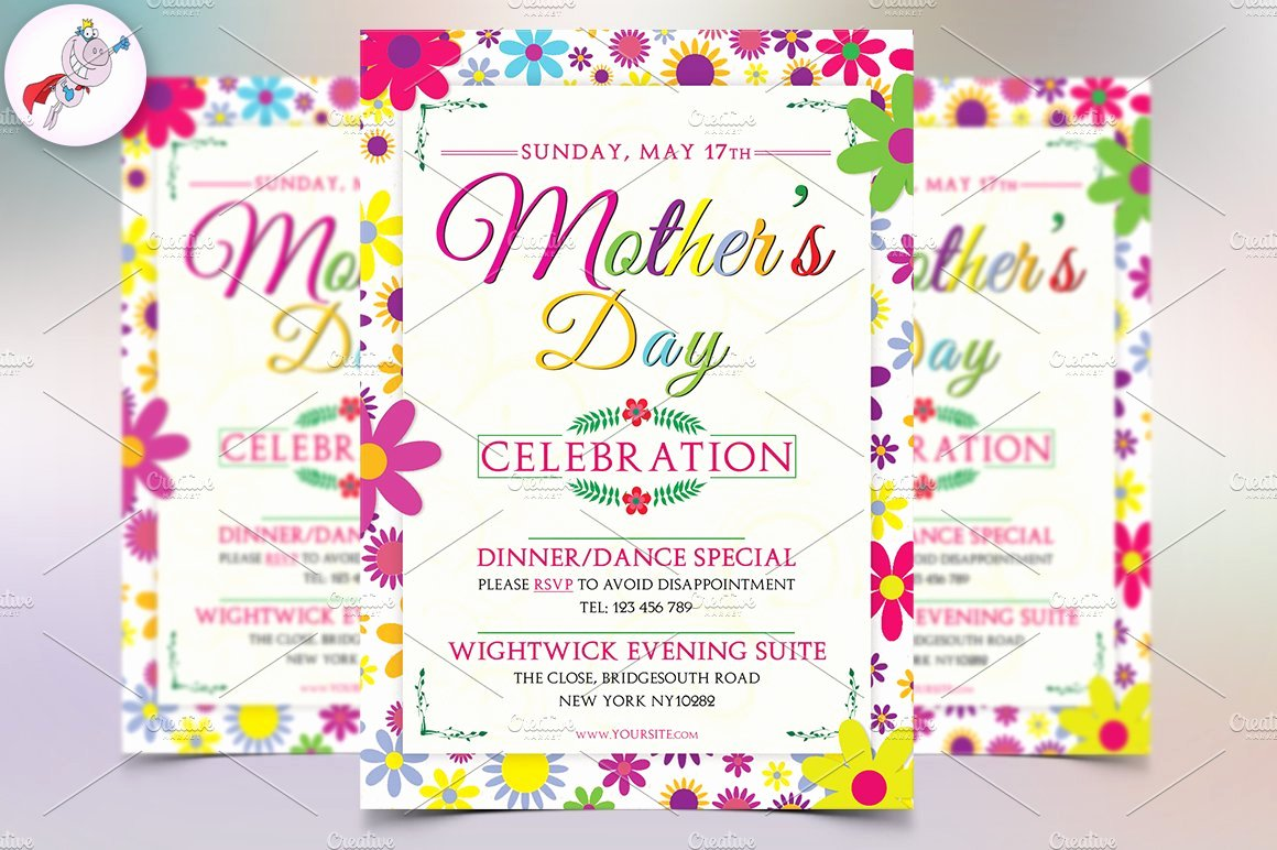 Mother Day Flyer Template Free Elegant Mother S Day Flyer Template V1 Flyer Templates Creative Market
