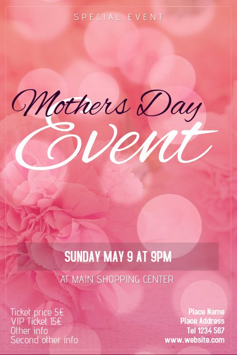 Mother Day Flyer Template Free Fresh Mothers Day event Flyer Template