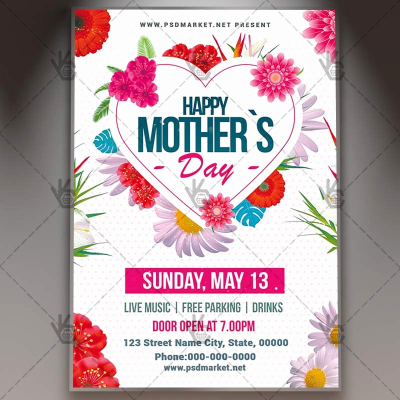 Mother Day Flyer Template Free Fresh Mothers Day Lunch Flyer Psd Template