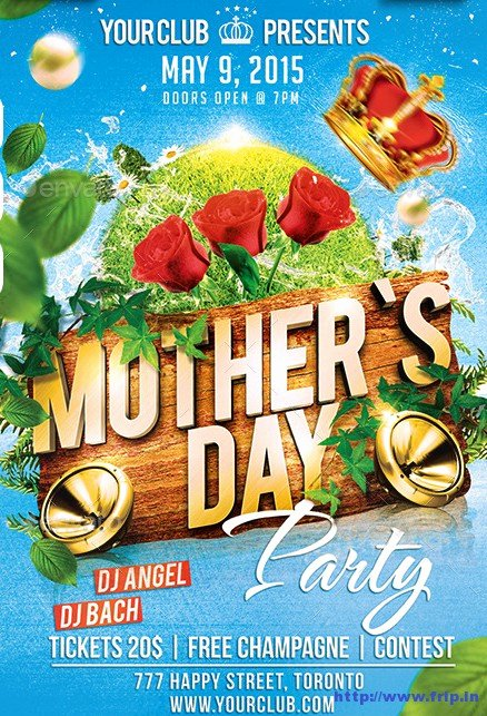 Mother Day Flyer Template Free Lovely 40 Best Mother's Day Flyer Print Templates 2016