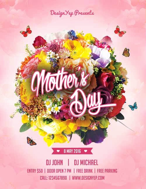 Mother Day Flyer Template Free New Happy Mothers Day Free Flyer Psd Template