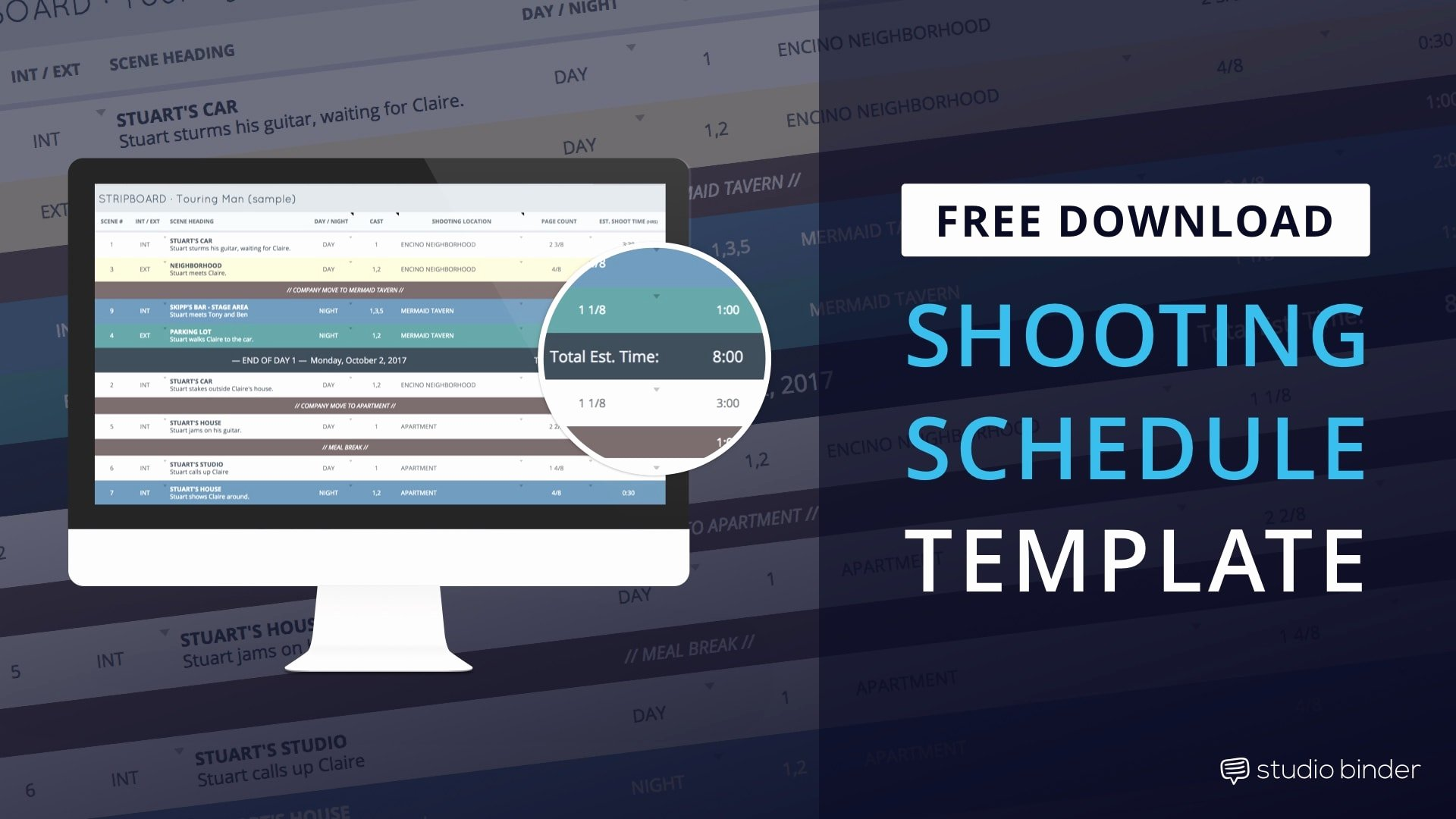 Movie Magic Budgeting Templates Fresh Download Production Shooting Schedule Template