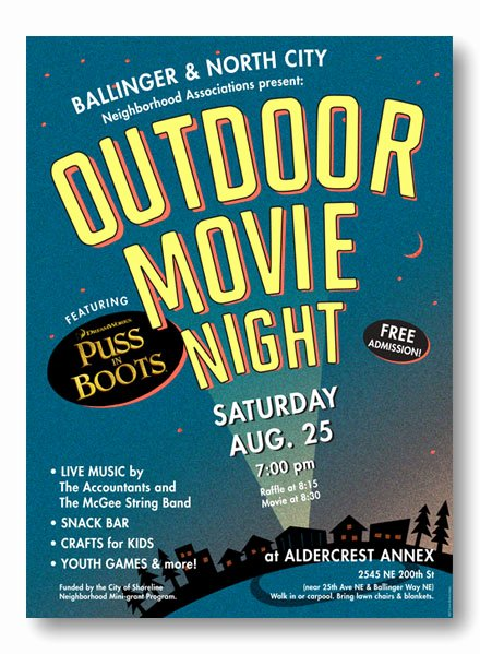 Movie Night Flyer Templates Awesome Outdoor Movie Night Flyer